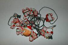 Vintage Christmas Plastic Teddy Bear Train Light String 1988 House of Lloyd