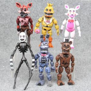 Five Nights At Freddys Nightmare 12.7cm Set Mit 6 Aktion Figuren Gift Sammel S25