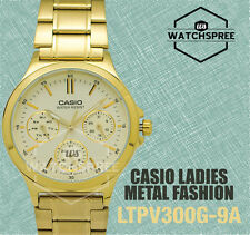 Casio Ladies' Standard Analog Watch LTPV300G-9A LTP-V300G-9A