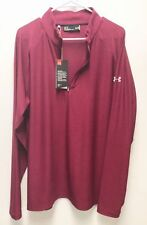 Under Armour UA Golf Outerwear Pullover Half Zip Burgundy Red Large Loose
