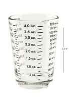 4 oz. Bar & Kitchen PROFESSIONAL MEASURING GLASS Jigger Shot Multiple Scale