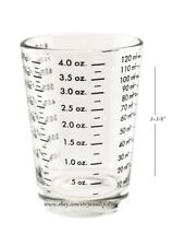 4 oz. Bar & Kitchen Professional Measuring Glass Jigger Shot Multiple Scale