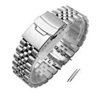 Curved Stainless Steel Bracelet Replacement Watch Band fit Seiko7S26 SKX007 009