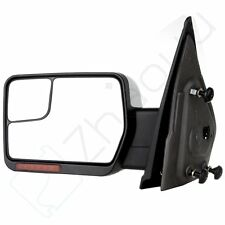 Chrome Towing Driver Mirror Left Power Heated Signal for 2004-2014 F-150 Truck