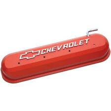 Proform Valve Cover Set 141-261; GM Perf Slant Edge Orange Aluminum for Chevy LS