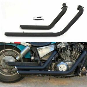 Shortshots Staggered Exhaust Pipe For Honda VT1100 SHADOW 1100 ACE Spirit Sabre