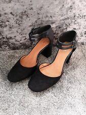 Next Black Suede & Faux Leather Shoes Size 6 EU 39 shoes