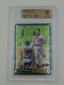 2001 Topps Chrome # 381 Mike Piazza HOF New York Mets BGS 10 Pristine Pop 1