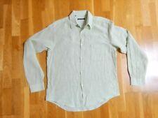 Camisa lino hombre rayas ADOLFO DOMÍNGUEZ talla 3 verde blanca - 074