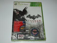 Batman Arkham City XBOX 360 US Military PX Launch w Coin & 1970's Skin AFFES