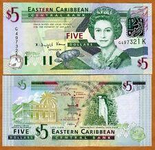 Eastern East Caribbean, $5 (2003), St Kitts, Pick 42k UNC