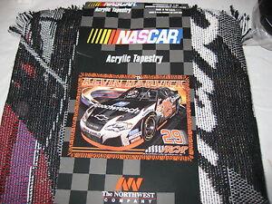 Northwest Company Kevin Harvick  Acrylic Tapestry Throw Blanket 48x60 NWT