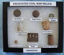 Nice Gift Set Of Identified Excavated Civil War Relics