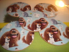 """#5 Five PETS DUCKTAPE design & Natural Cork Drink Coasters Placemats 3.5"""" in"""
