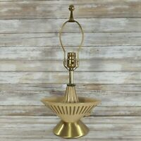 Mid Century Modern Atomic Ceramic Table Lamp Light Beige Taupe