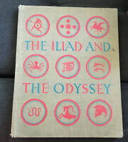 VTG The Iliad and the Odyssey GIANT Book Deluxe 1st Ed Simon & Schuster 1956 Exl