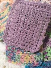 Crochet Miniature Dollhouse Blanket Light Purple Omega Crys Fingering Thread