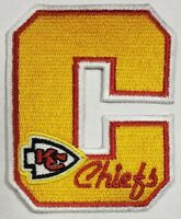 Kansas City Chiefs NFL~Letterman~Iron On Patch~Free Shipping From the U.S.A.~