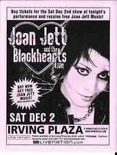Joan Jett and The Blackhearts  Concert Handbill Mini Poster  NYC  2006