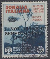 SOMALIA 1934 POSTA AEREA SERVIZIO AEREO 25 C. N.2 USATO