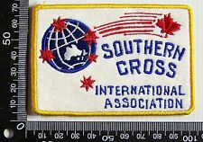 VINTAGE SOUTHERN CROSS INTERNATIONAL ASSOCIATION PATCH WOVEN CLOTH SEW-ON BADGE