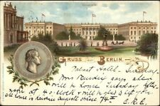 Gruss Aus Berlin Universitat 1898 Postcard