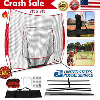 Power Net 7x7 Hitting Net w/ Tee Bundle for Baseball Softball Batting Practice