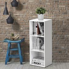 Furinno 14151R1WH 3-Shelf Bookcase - White