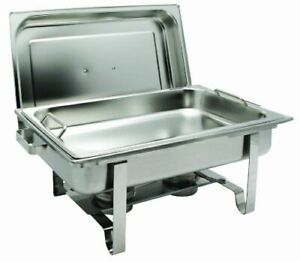 Winco C-2080B Get-A-Grip Chafing Dish 8Qt full size rectangular Stainless Steel