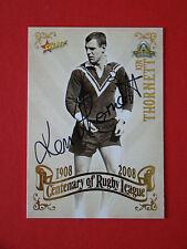 Ken Thornett Autographed 2008 Centenary of Rugby League Card # 59