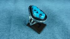 Navajo Native American Ben Yazzie sterling silver turquoise ring