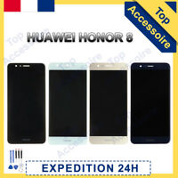VITRE TACTILE + ECRAN LCD POUR HUAWEI HONOR 8 NOIR/BLANC/OR/BLEU + OUTILS / FILM