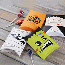 4 Designs Halloween Night Ghost Paper Party Sweet Candy Favour Gift Pillow Boxes