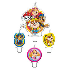 4 x Paw Patrol Birthday Cake Candles Toppers Chase Sky Marshall Party Decoration