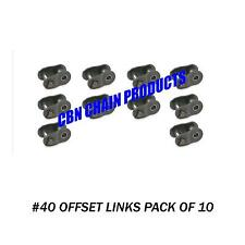 #40 Offset Link. #40 Half Link, Go Kart, Mini Bike, Repair Link, Pack of 10