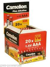 200 x Camelion AAA in Folie Batterie LR03 1,5V Plus Alkaline High Energy Micro