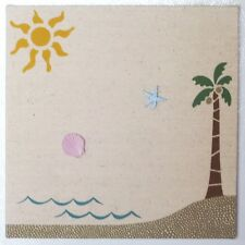 TROPICAL BEACH PALM TREE BULLETIN MEMO MEMORY BOARD SEA SHELL STARFISH PUSH PINS