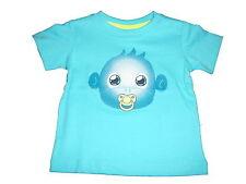 NUEVO dopodopo Gran camiseta talla 62 Azul con lindo monos Motivo