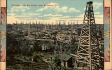 Triumph Oil Field Derricks Bradford PA Ornate Border c1910 Postcard