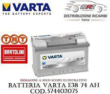BATTERIA AUTO VARTA E38 74AH 750A DI SPUNTO POSITIVO A DESTRA - 574402075