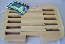 "Totally Bamboo Trivet Expandable 8.75"" to 11.75"" Wood Lattice Kitchen NEW NWT"