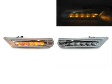 Clear Amber LED Bumper Side Marker Light For 97-04 986 Boxster 996 911 Carrera
