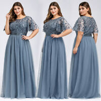 Ever-Pretty Plus Size Long Mother of Bride Evening Dress A-Line Bridesmaid Gown