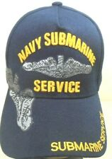 U.S. NAVY SUBMARINE MILITARY BALL CAP NAVY SUBMARINE SERVICE HAT NAVYBLUE