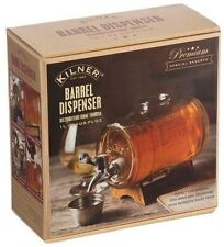 Kilner Barrel Dispenser 1L Glass Wooden Stand Whiskey Liquor Spirits Party Drink