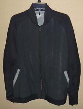 New Mens L Lg Nike Golf Dri-Fit Tour Premium Full Zip Jacket Coat Black Gray