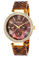 Caravelle by Bulova 44N102 Women's Multi-Function Tortoise Resin Brown MOP