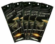 5 Packets of  ULTIMATE BLACK 100XXX Bronzer Tanning Lotion