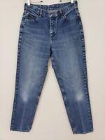 Lee Womens Stonewashed 100% Cotton Tapered High Waist Blue Denim Jeans Sz Size 8
