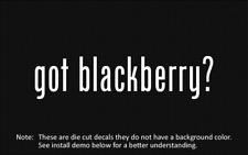 (2x) got blackberry? Sticker Die Cut Decal vinyl
